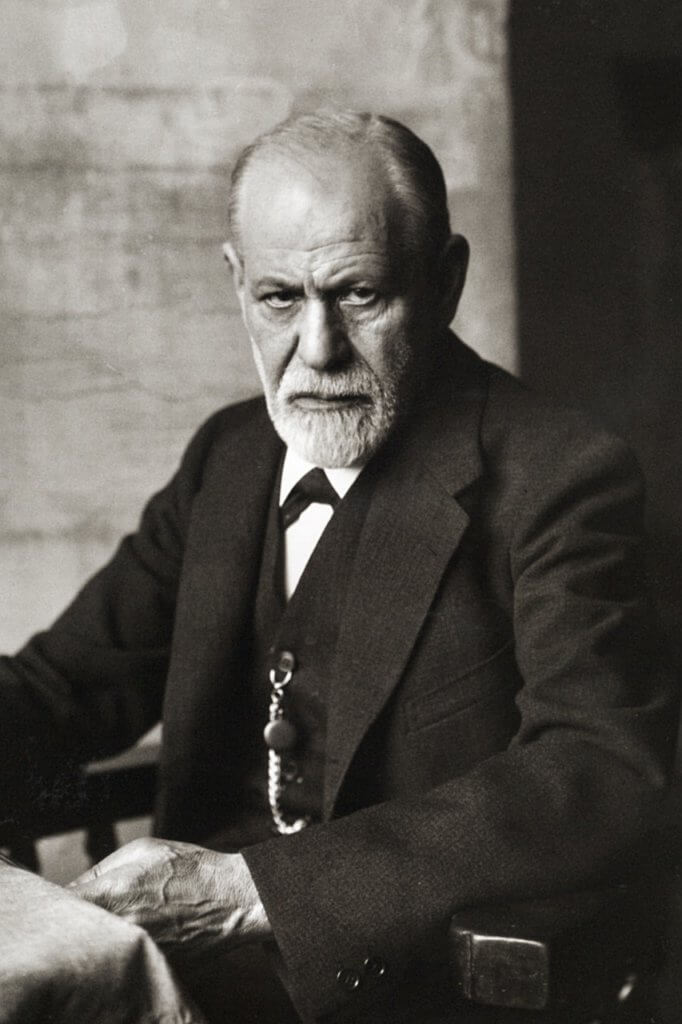 Retrato de Sigmund Freud
