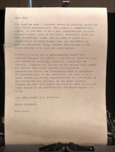Competencias para ser un buen psicoterapeuta según Anna Freud